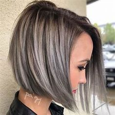 """Search Results for """"highlights for dark hair going grey highlights for dark hair going grey gray hair highlights gray highlights and silver hair highlights"""" Short Hair With Layers, Short Hair Cuts, Short Hair Styles, Pixie Cuts, Angled Bob With Layers, Brown Hair With Silver Highlights, Brown Lob, Brown And Silver Hair, Blonde Highlights On Dark Hair Short"""