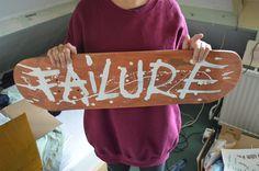 """Failure"" skateboard deck by Jasper Van Doorn The Daily Board:follow |facebook |pinterest|twitter | submit"