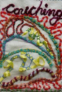 I ❤ embroidery . . . TAST - Couching ~By Maya Matthew