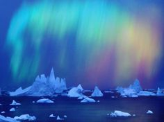 Aurora boreal na Australia - aurora boreal, Australia, gases iluminados, gelo, natureza