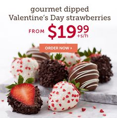 Send chocolate covered strawberries & other chocolate dipped fruit treats delivered from Shari's Berries. Over 175 million berries sold! Chocolate Dipped Strawberries, Chocolate Covered Strawberries, Send Chocolates, Strawberry Dip, Chocolate Gifts, Dips, Track, Popular, Coupons