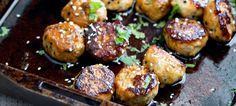 Sweet, sticky and delicious. These tray baked sticky sesame chicken meatballs are packed with flavour & bake in the oven for a perfect weeknight meal.