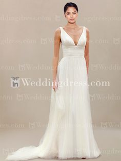 Browse the complete collection of beach wedding dress with plunging v-neck here. Best prices guaranteed!