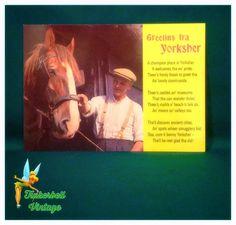 Vintage Greetins Fra Yorkshire Postcard. Vintage Postcard.