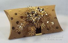 Poinsettia and Pine Pillow Box by kittie747 - Cards and Paper Crafts at Splitcoaststampers