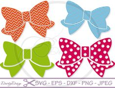 SVG files Bow Cutting files Svg Bows Svg Files by DoortjeDesign
