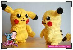 Pikachu - Pokemon - Patrón gratis - Amigurumi