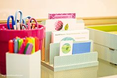 Home Office Organization | Bright Bold and Beautiful