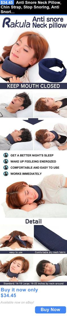 Chin Straps: Anti Snore Neck Pillow, Chin Strap, Stop Snoring, Anti Snoring Jaw Strap Trial BUY IT NOW ONLY: $34.45