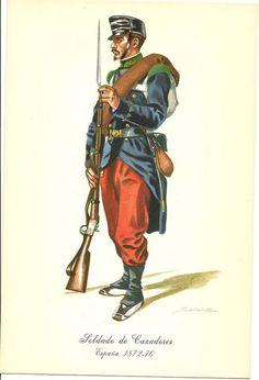 Spain; Cazadores, 1872-76