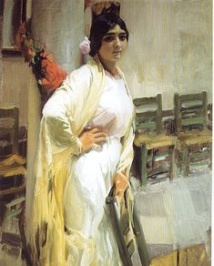Sorollajoaquí_n Marí_a La Guapa. Œ© Aisa/Everett Collection Poster Print x Spanish Painters, Spanish Artists, Famous Artists, Great Artists, Figure Painting, Painting & Drawing, Academic Art, Traditional Paintings, Beautiful Paintings