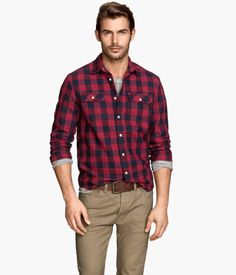 Checked twill shirt | H&M