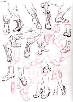 I'm always leaving out the feet because I really suck at drawing feet and shoes… So here some studies.