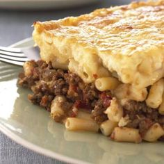 This dish is called Pastitsio in Greece and traditionally made with macaroni, but you can use any pasta shapes.
