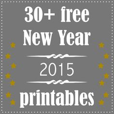 FREE printable New Year's Eve decoration and gifts | for the New Year 2015