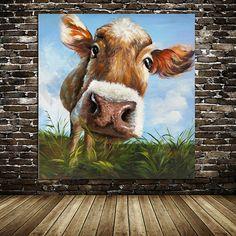 White beard cattle oil paintingbull oil painting by ApeArtStudio
