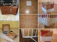 MuyVariado.com: Canastas de Papel, Manualidades Faciles