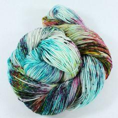 Hand Dyed Sock Yarn  SW Sock 80/20  Superwash by SpunRightRound, $24.00