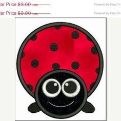 SALE 65% off Big Eyed Ladybug Applique Machine Embroidery Designs 4x4 & 5x7 Instant Download Sale