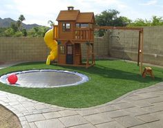 44 Small Backyard Playground Landscaping Design Ideas