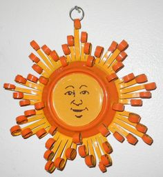 This etsy show is so cool! Smiling Sun Quilled Aluminum Can Decoration