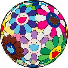 Flower Ball (Dumpling) Print by Takashi Murakami