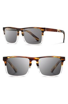 Men's Shwood 'Govy 2' 53mm Sunglasses - Whiskey Soda/ Grey