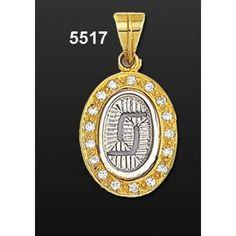 Μενταγιόν Οβάλ Ψάθα Χρυσό-Λευκό Κ14 Kallin Ancient Greek, Pocket Watch, Watches, Accessories, Wristwatches, Clocks, Pocket Watches, Jewelry Accessories
