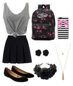 girly first day of school outfit by jennac2021 on Polyvore featuring polyvore, fashion, style, WithChic, Alexander Wang, Accessorize, Vans, Rock 'N Rose, Harrods and clothing