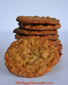 Grandma Millie's Famous Oatmeal Cookies - Mrs Happy Homemaker