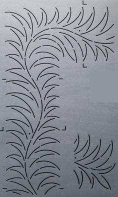"Sumac Feather 4"" - The Stencil Company"