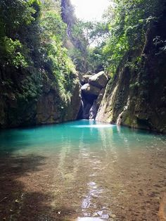 Brinco Charco Azul, Cañón San Cristóbal- Barranquitas, Puerto Rico (photo by kachyblue on imgur) - San Cristobal Canyon is the only volcanic rift in Puerto Rico and is approximately 650 feet down to the bottom. The temperature at the top is considerably cooler than down in the canyon. The canyon is about 9 kilometers long. There are two rivers running through it and several waterfalls. It isn't easy to see. There is no built 'Tourist' access road, it is just there.