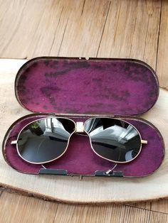 8b06c2f47ffd Vintage Motorcycle Aviator Half Folding Sunglasses   Vintage Sunglasses    Vintage Aviation   Iron Cowboy Sunglasses