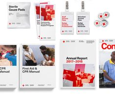 Brand New: New Logo and Identity for Canadian Red Cross by Concrete Visual Identity, Brand Identity, Canadian Red Cross, International Red Cross, Red Cross Society, Conference Branding, Communication Design, Cross Designs, School Design
