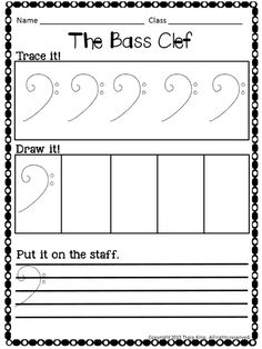 Resultado de imagem para Learn to draw treble clef worksheet for kids Music Math, Preschool Music, Music Activities, Music Classroom, Music Lessons For Kids, Music For Kids, Piano Lessons, Piano Classes, Music Theory Worksheets