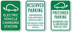 truck signs | Hybrid-Car-Parking-Signs