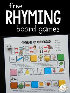 Grab this set of four rhyming words games for practice with this important skill! Letter Sound Activities, Rhyming Activities, Rhyming Kindergarten, Music Activities, Spring Activities, Rhyming Word Game, Word Games, Sound Words, Jolly Phonics