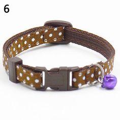 Adjustable Polka Dot Print Nylon Cat Collar