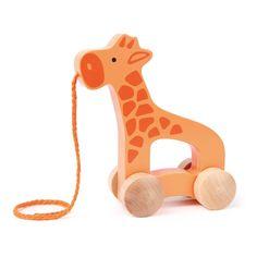 Girafe à tirer Hape Enfant- Large choix de Jouet et Loisir sur Smallable, le Family Concept Store - Plus de 600 marques.