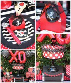 Pirate Themed Valentine Party via Kara's Party Ideas KarasPartyIdeas.com (3)