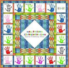 Name: 'Quilting : Handprint Quilt Tutorial Preschool Auction Projects, School Art Projects, School Ideas, Quilting Ideas, Quilt Patterns, Heart Quilts, 3rd Grade Art, Memory Quilts, Auction Baskets