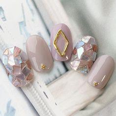 Pin on ネイル Korean Nail Art, Korean Nails, Japanese Nail Design, Japanese Nail Art, Nail Art Designs Videos, Red Nail Designs, Stiletto Nail Art, Nude Nails, Pastel Nails