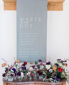 """The Wedding Collective / Gill on Instagram: """"This banner is such a brilliant idea from @madebywoodandwood 🤗 what did you do with your leftover flowers? (Planning & Styling…"""""""