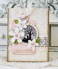 All Booked Up Revisited - Friendship Card by Melissa Phillips for Papertrey Ink (January 2013)