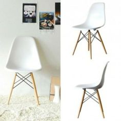 Just bought these Eames replicas for downstairs! Eames Dsw Chair, Small Places, Beautiful Interiors, Home And Living, Furniture Design, Interior Decorating, House Design, Bedroom, Inspiration
