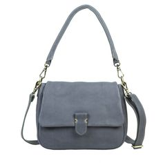 A grey slate Laurel bag Cowhide Leather, Cow Leather, Leather Crossbody Bag, Leather Purses, Leather Handbags, Leather Wallet, Everyday Bag, Hobo Bag, Saddle Bags
