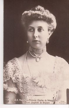 Princess Joséphine of Belgium was the daughter of a younger son of King Leopold I and his wife Princess Louise of Orleans.  Josephine made a suitably royal marriage with  Prince Karl Anton of Hohenzollern-Sigmaringen, who was also her first cousin.  Josephine and Karl Anton were happy together and had three surviving children.