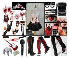 """My CreepyPasta OC: The Bloody Princess"" by xxsilentsilverxx ❤ liked on Polyvore featuring Christian Dior, Gorgeous Cosmetics, Leg Avenue, Fendi, Chicago Cutlery, FOXCiTY, Nintendo, Lancôme and shu uemura"