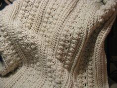 Aran Isle Afghan--note to self use bulky yarn and K hook
