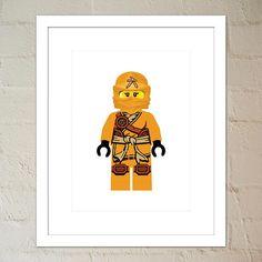 Druck der gelben Ninja im Kimono. Geeignet für ein Kind im Zimmer oder für Erwachsene Lego-Liebhaber. Anderen Ninja auch - überprüfen Sie das letzte Foto um weitere Angebote zu sehen. Drucken Sie selbst aus, oder nehmen Sie an die Druckerei. Die Wandkunst in dieser Auflistung kommt in